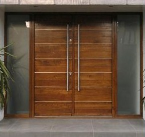 Doors on pinterest modern exterior front door design for Modern front double door designs